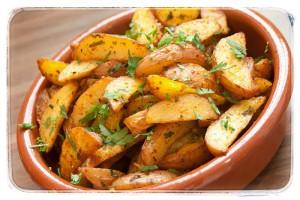 Gekruide oven aardappelen