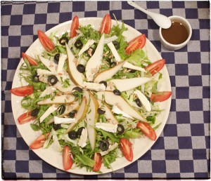 Salade peer camembert