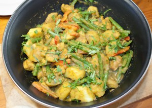 Kalkoen curry masala