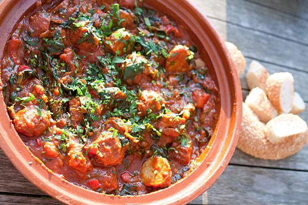 tomatensaus met gehaktballetjes