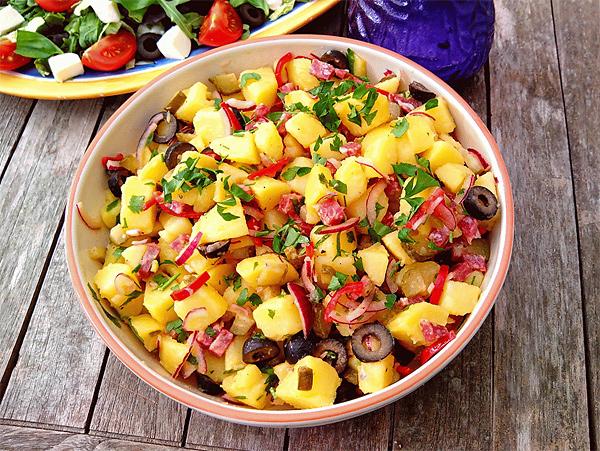 aardappelsalade met salchichon