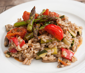 Risotto met tomatentapenade en port