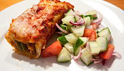 enchiladas met bonen en rundergehakt