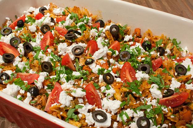 Macaronischotel met een Turks tintje